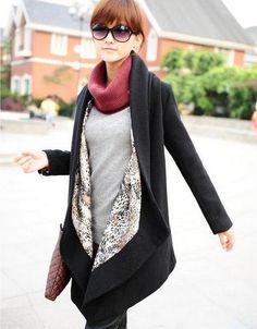 women vintage long wool coat /wool jacket/parka/spring by MIDUODUO, $50.00