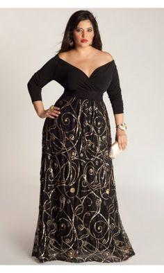 IGIGI by Yuliya Raquel Kandinsky Gown In Black & Gold