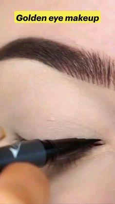 Edgy Makeup, Grunge Makeup, Makeup Inspo, Golden Eye Makeup, Makeup For Brown Eyes, Makeup Looks Tutorial, Eyebrow Tutorial, Simple Makeup Tips, Eye Art
