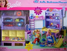 Barbie All Around Home KELLY Bedroom Playset w 2 Sides (2001) by Mattel. $68.99. Barbie All Around Home KELLY Bedroom Playset is a 2001 Mattel production. If you want to know Box Condition see CONDITION NOTE or Email Seller for Details.
