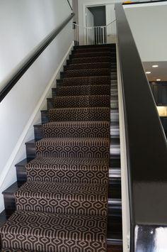 Marvelous Geometric Stair Runner In Newport Beach