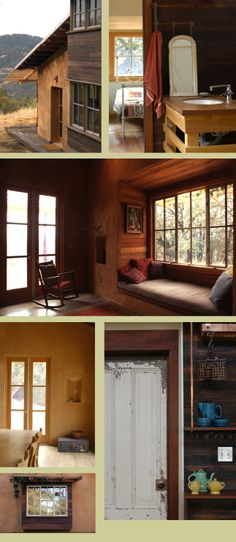 Straw bale house. Natural wood house / cottage.