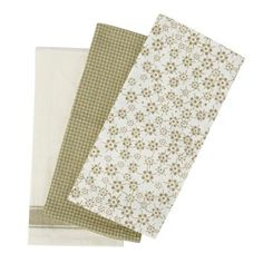Designer set of 3 natural tea towels at debenhams.com