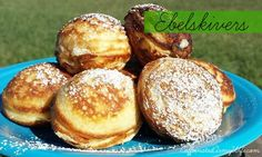 Ebelskivers - Danish Puffed Pancakes recipe filled with apple butter ...