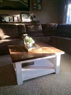 Rustic Square Coffee Table by MiterandPine on Etsy