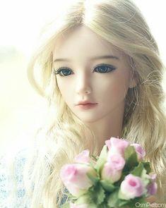 Beautiful barbie doll images with flowers pink roses - Mandeep Madden Dolls Beautiful Barbie Dolls, Pretty Dolls, Anime Dolls, Blythe Dolls, Dainty Doll, Barbie Images, Cute Love Wallpapers, Cute Baby Dolls, Gothic Dolls