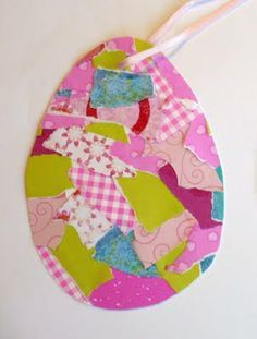 10 Fun Easter Crafts You'll Want to Make. Patchwork egg.