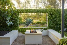 Peek-Through Window in California Garden