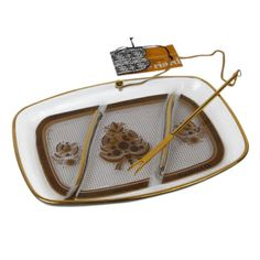 Georges Briard Hors d'Oeuvres Serving Tray - $245 Est. Retail - $105 on Chairish.com