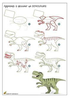 On te propose d'apprendre a dessiner un dinosaure. Avant la préhistoire, les dinosaures peuplaient notre planète et puis ils ont disparu, sans doute à cause d'un changement brutal de température. Avec cette méthode de dessin étape par étape, tu vas apprendre à l'aide de formes simples à comprendre les bases du dessin. Maintenant c'est à toi de nous montrer tes talents d'artiste!
