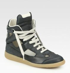 Cutout High Top Sneakers - Lyst