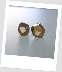DIY Faceted Earrings