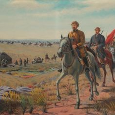 """Famous Kazakh painter Abilkhan Kasteyev. """"Warriors of Amangeldy Imanov"""" 1970 State Art Museum of Kazakhstan named after Abilkhan Kasteyev"""