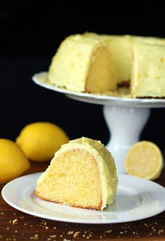 Homemade Lemon Pudding Cake - a great idea for Easter.