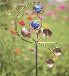Infinity Anemometer Garden Wind Spinner With Glow Balls