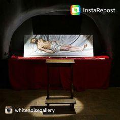 Jesus Herrera - Autorretrato yacente. In exhibition until October 24th! #art #contemporary #whitenoisegallery #rome