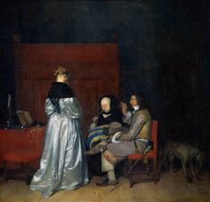 Gerard ter Borch - Three Figures conversing in an Interior, known as 'The Paternal Admonition'circa 1653-1655oil on canvasRijksmuseum, Amsterdam