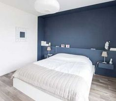 painted nook - nice blue Contemporary Bedroom by Atelier Form - Architectes DESL - Bedroom Design Ideas Bedroom Wall, Bedroom Decor, Bedroom Ideas, Bedroom Lighting, Bedroom Furniture, White Bedroom, Bedroom Inspiration, Wall Decor, Rustic Home Interiors