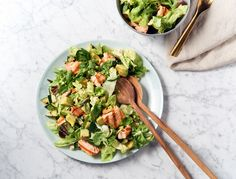 This interpretation of My Ivy Salad from My Fathers Daughter is a detox-friendly combo of delicious hot and cold ingredients.