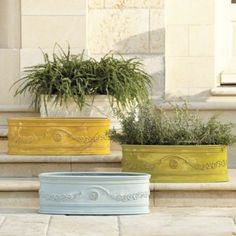 Our Oval Toulon Planter looks amazingly like the ceramic originals, but it's really crafted of lightweight stone composite and resin reinforced with fiberglass. Indoor Planters, Planter Pots, Fire Clay, Outdoor Living, Outdoor Decor, Outdoor Spaces, Tuscan Design, Garden Statues, Ballard Designs