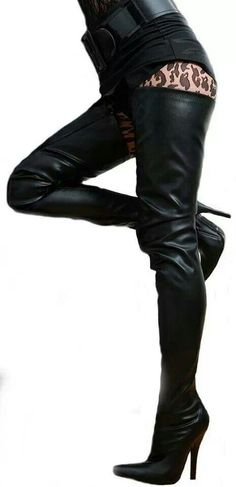 9fbef074ef58 Holy high boots. ShoesHeelsDeals · Boots looking high and low · Boot Fashion   Megan McNierney in Christian Louboutin Snakeskin Crotch ...