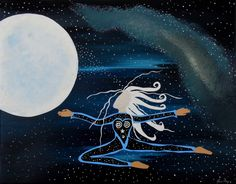 Creation of a Star Being Original Celestial Moon by JeanneFryArt, $95.00