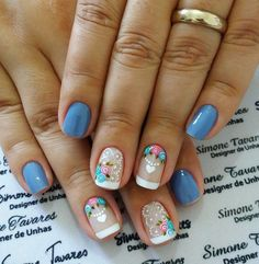 Diseños de Hermosas Uñas Decoradas #uñasdecoradaspiedras Beauty Makeup Tips, Beauty Nails, Ongles Forts, Stylish Nails, Jamberry Nails, Spring Nails, Toe Nails, Pretty Nails, Flower Designs