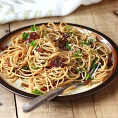 Sun-Dried Tomato Pasta with Garlic-Herb Olive Oil Sauce