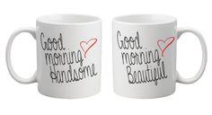 Good Morning Couple Mugs - CuteSet Matching Couple Gifts, Matching Couples, Matching Outfits, Cute Couples, Good Morning Couple, Cute Good Morning, Couple Mugs, Homemade Gifts, Life Hacks