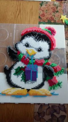 Knit & Crochet Penguin Buddy Pattern PENGUIN needle felting instructions by The Lady Moth - PDF - DIY pattern - make your own cute penguin - printable instructionsPENGUIN needle felting instructions by The Lady Moth PDF Perler Bead Designs, Hama Beads Design, Diy Perler Beads, Perler Bead Art, Pearler Bead Patterns, Perler Patterns, Quilt Patterns, Pixel Art Noel, Christmas Perler Beads