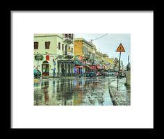 Urban Rain Framed Print By Eleni Mac Synodinos