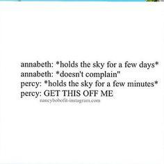 You go annabeth