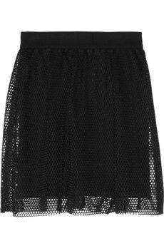 Milly Honeycomb-mesh mini skirt | NET-A-PORTER