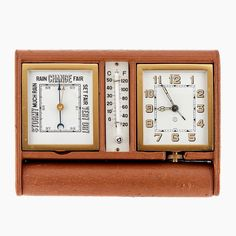 Things that inspire us: a 1960s Jaeger-LeCoultre folding desk clock with barometer and thermometer   #jlc #lecoultre #jaegerlecoultre #clock #clocks #vintageclock #deskclock #antique #rare #luxury #finerthings #coolstuff #decor #thingsthatinspireus #retro #vintage #vintagestyle #classic #classicdesign #design #timeless #1960s #swissmade #bestofinstagram #horology #timepiece #timekeeping