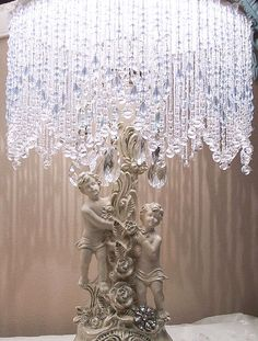 Exquisite Vintage Cherubs Rhinestones and Roses Table Lamps. $89.95, via Etsy.