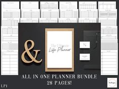 #planner #printable Hey, I found this really awesome Etsy listing at https://www.etsy.com/listing/572081588/life-planner-planner-bundle-a4-size