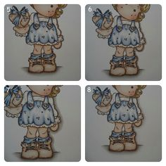 ProMarkerNorge ABC: Step by step coloring of Tilda with wrapped heart