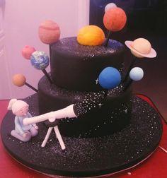 Solar system cake - Cake by Solar System Cake, Rocket Cake, Diva Cakes, Planet Cake, Sunshine Cake, Best Cake Ever, Galaxy Cake, Cakes For Boys, Fondant Cakes