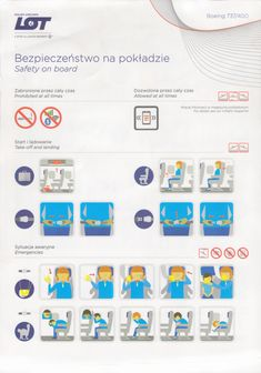 Safety Card  LOT Polish Airlines B737-400 (1)