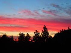 Sunset from Tom's Place, above Bishop, California