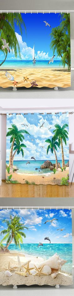 #FreeShipping #Beach #Shower #Curtain Stat From $10 | Sammydress.com