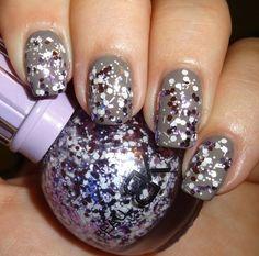Born Pretty Store BK Snow Glitter Nail Polish Shade  #Nails #Nailart #Greynails #Sparkle #Pretty - Bellashoot.com