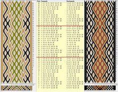 Two opposite threadings, same movements Diagonal 24 tarjetas, 4 colores, repite cada 16 movimientos // sed_565 & sed_565a diseñado en GTT༺❁