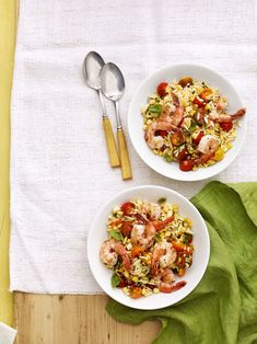 Summer Orzo with Shrimpcountryliving
