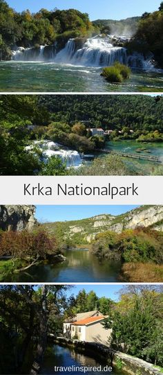 Travel tip for a short trip in autumn: Discover Croatia's beautiful national parks Krka and Plitvice Lakes with colorful deciduous trees. Krka National Park Croatia, Reisen In Europa, World Pictures, Short Trip, Europe Destinations, Nationalparks, Beautiful Places, Waterfall, Around The Worlds