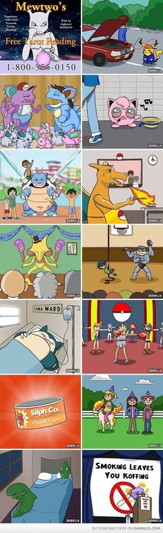 If Pokemon were reasl this is what we would see them doing