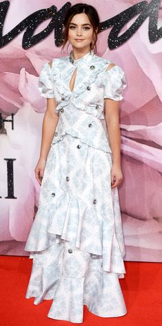 Jenna Coleman from InStyle.com - The Most Stylish Looks from the 2016 Fashion Awards Red Carpet