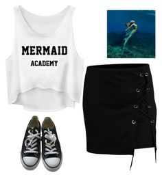 """mermaid summer"" by bwilliamson102976 ❤ liked on Polyvore featuring WithChic and Converse"
