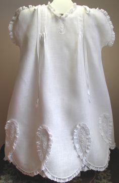 Circa 1928 Petal Sleeve Baby Dress and Slip - Debbie Glenn