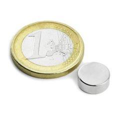 S-10-04-N: Disco magnético Ø10mm, alto4mm(Imanes de neodimio) - supermagnete.be